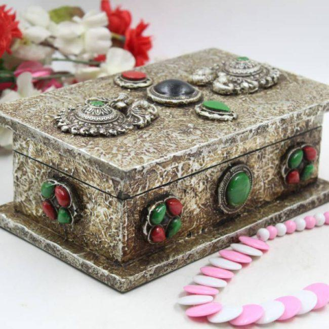 """8""""*5"""" WOODEN JEWELLERY BOXES PAINTING ANTIQUE SPECIAL"""
